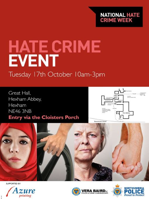 hate crime event hexham abbey