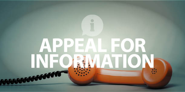Appeal for Information