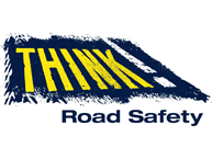 Think! Road safety logo