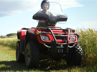 Quad bike in field