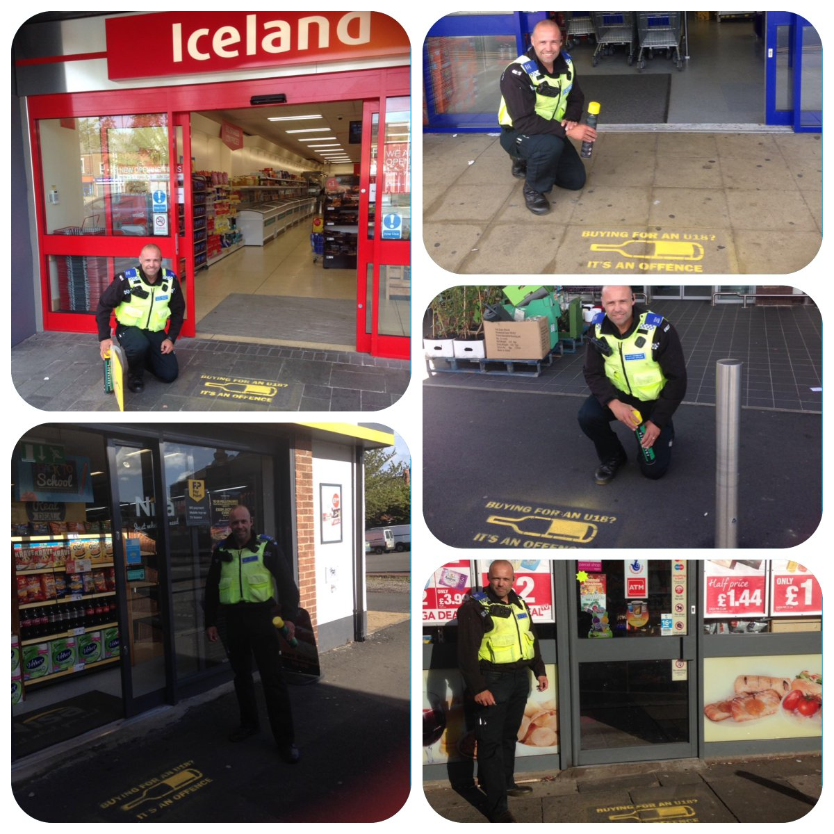 PCSO Richard Hanson outside some of the stores taking part