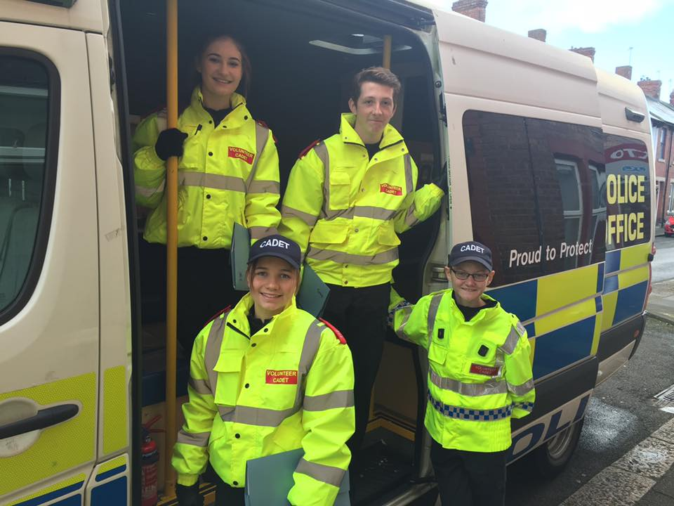 Cadets help with crime prevention